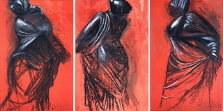 Three Red Dancers , Jim Dine