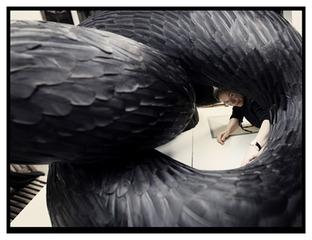 Artist\'s studio, Kate MccGwire
