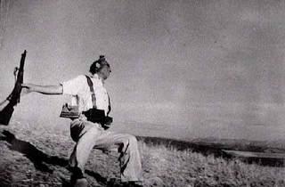 Death of a Loyalist Militiaman, Cerro Muriano, Cordoba front, Spain, Robert Capa