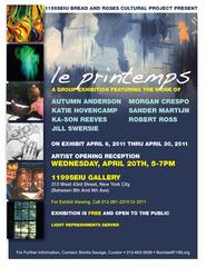 """""""le printemps"""" - A Group Exhibition - Flyer,"""