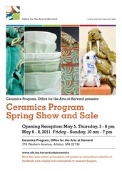 Spring Show and Sale Invite, Chris Adams, Margaret Angelo, Judy Rosenstein, Joanna Mark