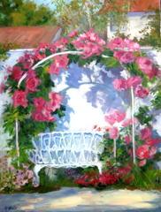 Rose Arbor - Artist Garden, Kathryn Stinis