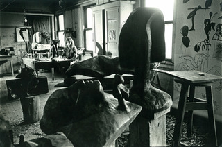 Mary Frank's studio, West 86th Street, New York, mid-1960's. ,