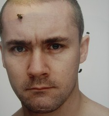 Feb 1994 at D.H. Studio (Damien Hirst with flies stuck to his head),Fergus Greer