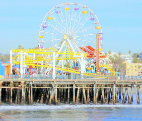 Old Santa Monica Ferris Wheel, Jerry Hicks