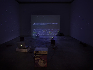 Install shot of \'The Great White Way Goes Black\',