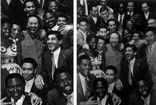 N.24. 1959 Chairman Mao with friends from Africa,Asia and Latin America,Zhang Dali