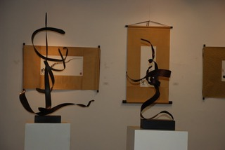 """Picto-Calligraphy & Sculpt-Script"" Exhibition,Feng Jin & Mei-Chu Chang"