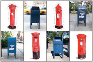 Mailboxes/Pillar Boxes, Linda Stillman, Maryann Kovalski