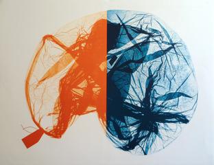 Tag Bag - Blue & Orange, Susan Bolles
