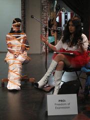 Debating Through the Arts/A Performance Art Event #1 24th Street Theatre, Los Angeles, CA, Marjan Vayghan, Marissa Mercado