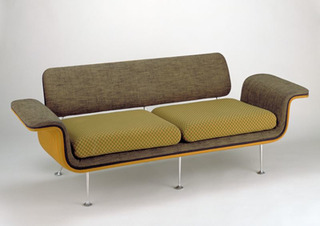 Sofa from a suite designed from Braniff Airlines,Alexander Girard