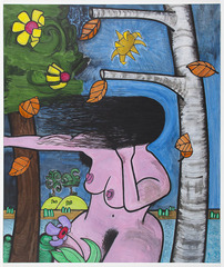 Bathers 5 (the wind), Carroll Dunham