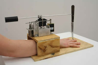 Prototype for a Machine that Plays Five Finger Fillet, Rob Duarte
