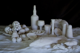 Still Life: the food bowl, 2011, salt, dimensions variable,Ken and Julia Yonetani