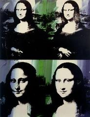 Mona Lisa Four Times,Andy Warhol