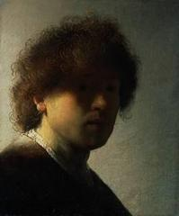Self Portrait at an Early Age,Rembrandt van Rijn