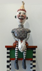 Laughing Man on Table, Lynne Haggard