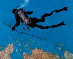 La pesca de la langosta, Julio Larraz