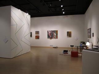 personifimotion installation view, Timothy Nolan, Daniel Brodo, steve hampton, Inouk Demers