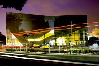 VPAM at night, Vincent Price Art Museum
