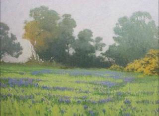 Lupine Field in the Morning Mist, Stephen Mirich