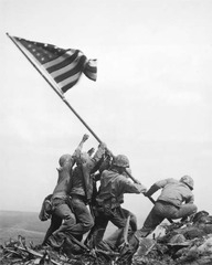 Marines of the 28th Regiment of the 5th Division Raise the American Flag Atop Mt. Suribachi, Iwo Jima,Joe Rosenthal