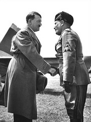 The First Meeting of Mussolini and Hitler,Venice, , Alfred Eisenstaedt