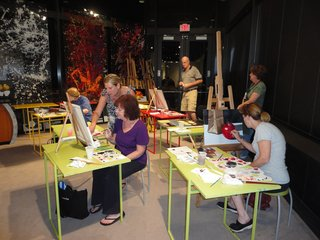 Instructor Daryl Gortner teaches another exciting Oil Painting Class!,