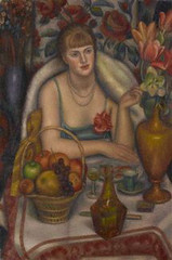Natalie Bevan (née Ackenhausen, later Denny) (\'Supper (Natalie Denny)\'),Mark Gertler