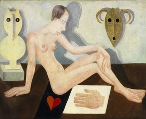 Nude with two masks, Marie Vassilieff