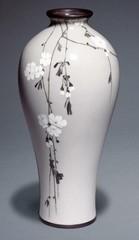 Vase, Tokyo, seal of Namikawa Sosuke,