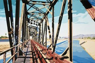 South Gate Railroad Bridge, LA River,David Thompson