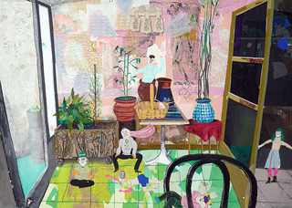 Green pink room, Mike Swaney
