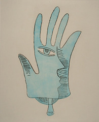 Blue Hand,Man Ray