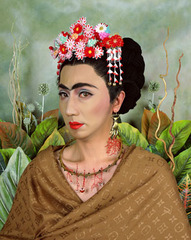 An Inner Dialogue with Frida Kahlo (Hand Shaped Earring), Yasumasa Morimura