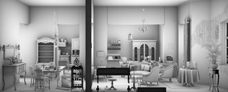 Detail of Living Room, Maya Zack