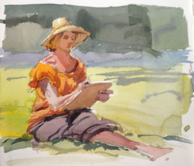 Seated in Nature, Timothy J. Clark