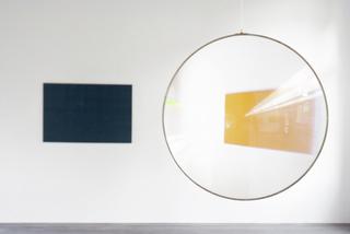Tableaux (bleu, jaune) / Sans titre (Lentilles), Véronique Joumard