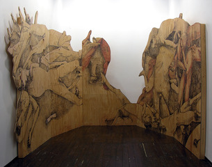 Instalation view of Spook: INVOCATION at LMAKprojects, NY,Kenseth Armstead