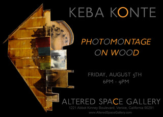 Photomontage On Wood, Keba Konte
