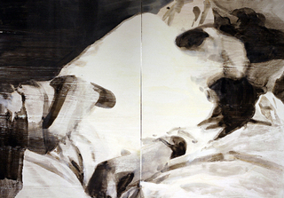 Reclining (Black and White 2), Servane Mary
