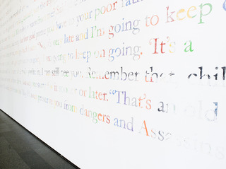 Installation view of Mark Bradford, Museum of Contemporary Art Chicago,Mark Bradford