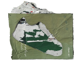 Untitled (Shoe), Mark Bradford