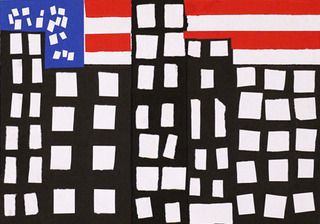 American flags appeared everywhere,