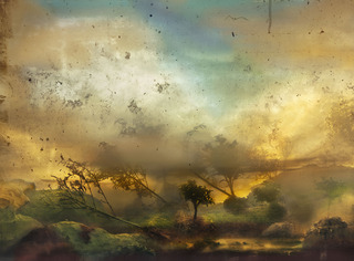 Summer: Blue, Yellow and Gray,Kim Keever