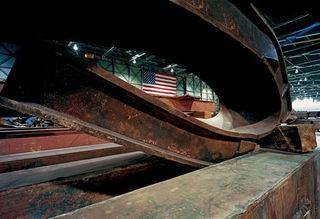 Folded Steel Column, Francesc Torres