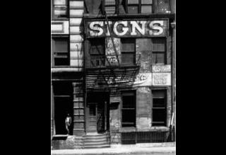 A Sign Business Shop, New York, Peter Sekaer