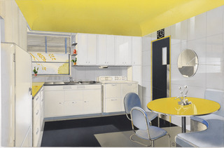 Illustration, Vitrolite Kitchen, Turzak Residence, Chicago, Illinois,Charles Turzak