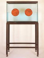 Two Ball 50/50 Tank (Spalding Dr. J Silver Series, Wilson Supershot), Jeff Koons